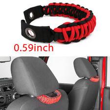 Red Rear Seat Paracord Grab Handle For Universal Car Jeep JL JK TJ Toyota