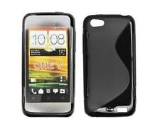 Housse Etui Coque Silicone Gel Noir S ~ HTC One V