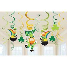 Leprechaun Swirl Decorations St Patricks Day Shamrock Pot of Gold Party