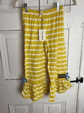 NWT Matilda Jane The Expedition Big Ruffles Pants Wish You Were Here Size 8