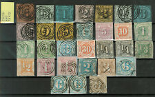Old Germany Stamps - Thurn and Taxis - 30 Stamps