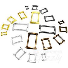 Solid Rectangle Metal Square Ring Belt buckle for webbing 12 15 20 25 30 40 mm