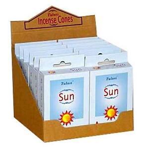 Two 15-Cone Boxes Tulasi Sun Incense Cones!
