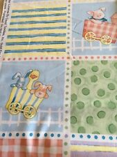 Quilting/Sewing Fabric - Nursery Squares & Stripes Priced by the Half yard