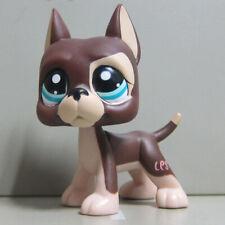 Littlest Pet Shop LPS #817 Brown Great Dane Puppy Dog Figure Toy B