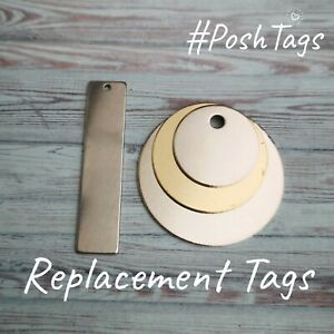 ONE REPLACEMENT tag ONLY - not full set - PoshTags