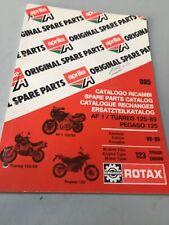 Aprilia catalogue pièces détachées AF1 Tuareg Pegaso 125 moteur 123 Rotax 1989