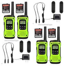 Motorola Talkabout T600 H2O Walkie Talkie 4 Pack Set Two Way Radios Waterproof