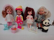 Lotto Barbie - Shelly club e famiglia cuore 4 pezzi più accessori originali