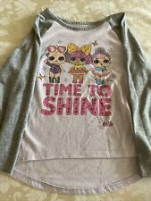 Pre Owned L.O.L. Surprise! Doll Girl Long Sleeve T-Shirt (6-6X)-Lilac and Gray
