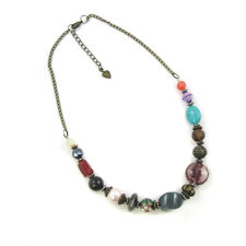 Eclectic Necklace Beads Natural Stone Boho Gypsy Hippy Festival Christmas 364