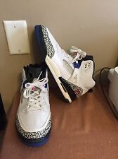 Nike Jordan Spizike Men's White/Cement/ Blue Sneakers Size 11