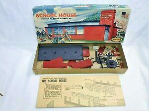 1958 Aurora School House & Playground Equipment Kit No. 654 HO Scale