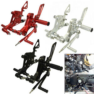 Adjustable Rearset Footrests Foot Peg For DUCATI Monster 800 1000 S2R S2 S4 R/RS