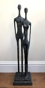 Us by STEVE BOSS SOLID BRONZE ART SCULPTURE MADE UK FOUNDRY after giacometti