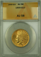 1909 Indian Gold Eagle $10 Coin ANACS AU-58