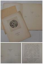 FOLLAIN  5 POEMES  PONCET 5 GRAVURES  PARIS 1932 VOLUME 1 DE LA ROSE DES VENTES