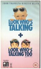 Look Who's Talking + Look Who's Talking Too VHS from Columbia Tristar Home Video