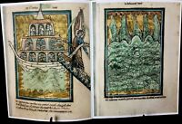 BIBLE PICTURES BY WILLIAM DE BRAILES, FACSIMILE, 1250 AD