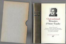 CHATEAUBRIAND Mémoires d'Outre-Tombe Mr Levaillant Tome 1 La PLÉIADE en 1981