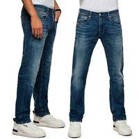 REPLAY jeans da uomo GROVER straight fit elasticizzato vintage e abrasioni MA972