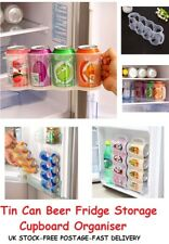 Tin Can Beer Drinks Beverage Dispenser Storage Fridge Rack Tray Holder Organiser
