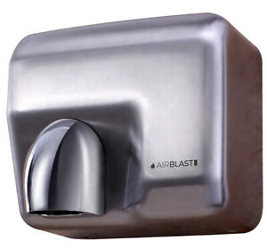 2300W CHROME BRUSHED STEEL AUTOMATIC HAND DRYER WALL MOUNTED  REVOLVING NOZZLE