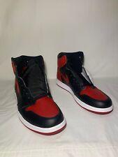 """Air Jordan 1 Retro OG """"Banned"""" SAMPLE Men's Size 13.5 BLK/VRSTY RD 555088 001"""