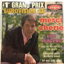 7'EP Udo Jürgens >Merci Cherie/+3<  EUROVISION 1966
