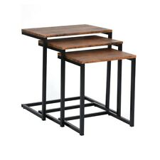 3PCS Walnut Nesting Table Coffee End Side Table Home Decor  Height 55-50-45CM