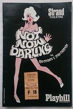 NOT NOW DARLING.RAY COONEY.PROGRAMME TICK 27-6-68.DONALD SINDEN.BERNARD CRIBBINS