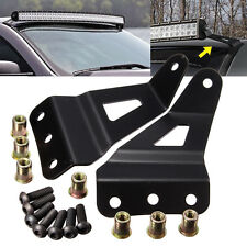 """Top Roof Mount Brackets steel For Chevy/GMC Windshield 52''/54"""" LED Bar Curved"""
