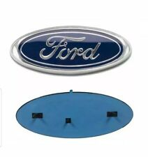 "2004-2016 Ford 9"" x 3.5"" BLUE OVAL CHROME LOGO Emblem Fits: Grille & Tailgate"