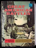 Great American Battles By Robert Leckie Dust Jacket First Edition 1968