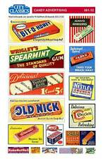City Classics-HO Scale -- #501-12 – Candy Advertising Signs