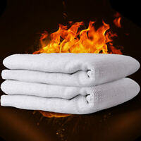 Large Fire Blanket Fireproof Quick Release Protection Kitchen Caravan Safety