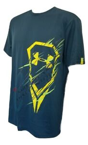 Under Armour UA Lacrosse Vibration Icon Graphic T-Shirt LAX 1252219 Green/Yellow