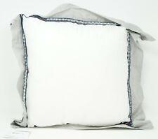 "Tommy Hilfiger Josephine Paisley Chambray Flange 16"" Decorative Pillow White Gra"
