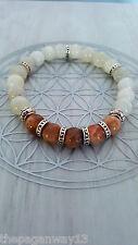 Rainbow Moonstone & Sunstone Bracelet (équilibrage féminin et masculin de l'énergie)