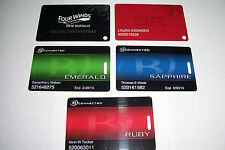 Set Of 5 Different Casino Slot Cards And Hotel Key Cards
