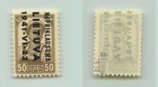 Lithuania 1941 SC LN7a mint inverted signed Nepriklausoma . f3213