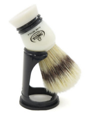 Pig Bristles 25mm IN Dachs-Optik Large Shaving Brush With Stand Omega Italy