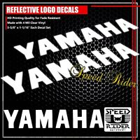 """5.5""""LEFT+RIGHT FAIRING/FUEL TANK STICKER REFLECTIVE VINYL DECAL FOR YAMAHA WHITE"""