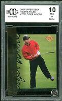 2001 Upper Deck Tiger's Tales #TT22 Tiger Woods Rookie Card BGS BCCG 10 Mint+