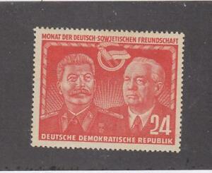GERMANY-GDR (MK6562) # 93 VF-MNH 24pf 1951 STALIN & WILHELM PIECK / RED