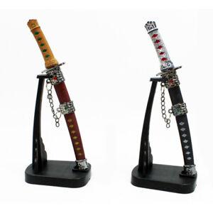Brieföffner Samurai Schwert mit Ständer Mini Schwert Briefoeffner Geschenkidee