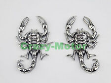 Motorcycle Chrome Metal 3D Scorpion Decal Sticker Tank Emblem Badge For Harley