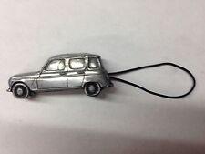 Renault 4 ref207 3D car pewter effect moblie phone charm