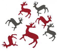 13 Streuteile Filz Elch Weihnachten Deko Landhaus stil Norweger Hirsch Rentier