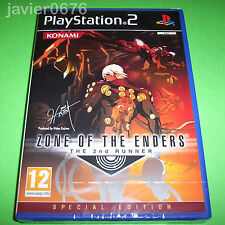 ZONE OF THE ENDERS THE 2nd RUNNER NUEVO PRECINTADO PAL ESPAÑA PLAYSTATION 2 PS2